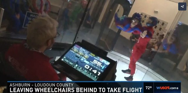 SPINALpedia Brings Six Paralyzed People to iFLY Loudoun