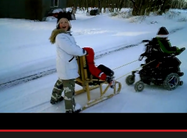 Wheelchair Sledding Craziness