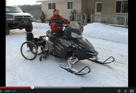 Adaptive snow sports: Snowmobiling